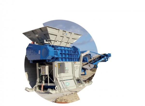 UTS 1500 Bauschuttschredder - 2 Wellen Zerkleinerer (elektrisch)